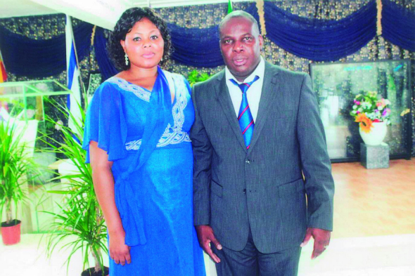 Pastor Victor Benjamin and his wife, Faith